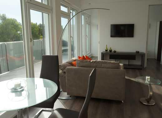 Exklusive voll möblierte, helle 2-Zimmer Wohnung mit Dachterrasse im modernen Stil
