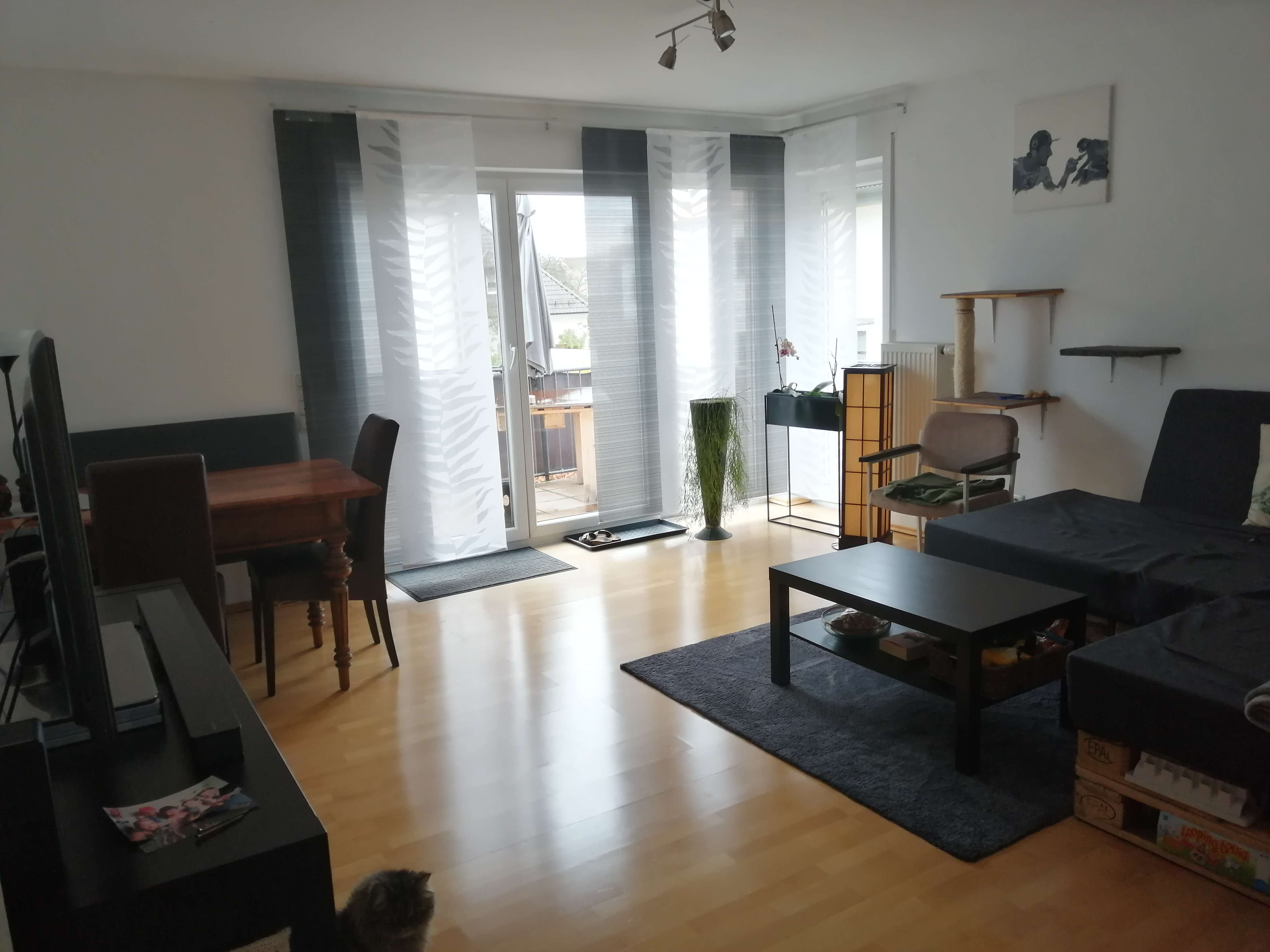 Ruhige & gepflegte 3-Zimmer-Wohnung mit Balkon und Einbauküche in Zentrumsnähe in Neuburg an der Donau