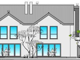 Haus-Idee-Gartenansicht