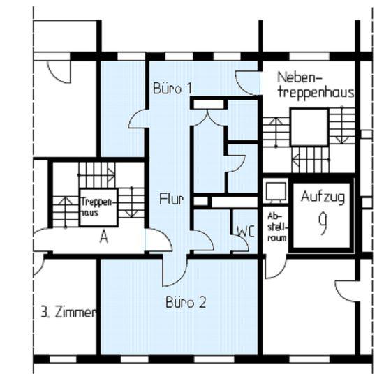 1. Obergeschoss rechts (A)