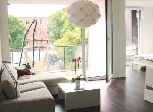 Helle 2-Zimmer-Whg in Bestlage, modern möbliert / Fully furnished appartment in perfect location