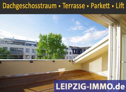 DACHGESCHOSS TRAUM IN GOHLIS *** Dachloggia * Lift * Tageslichtbad mit Wa + Du * offene Küche...