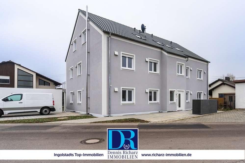 Etting: Neubau 3-Zimmer-Wohnung mit Echtholzböden, EBK, Balkon & Garage in ruhiger Lage IN-Nord! in Etting