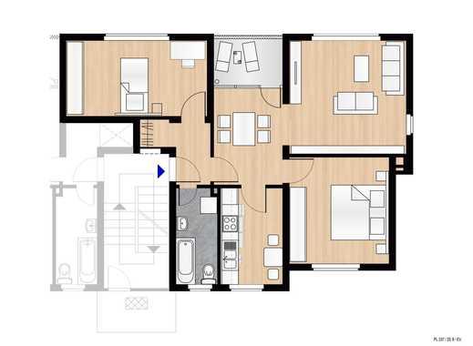 Geräumige und frisch renovierte 3,5 Zimmer Wohnung in Duisburg Hamborn