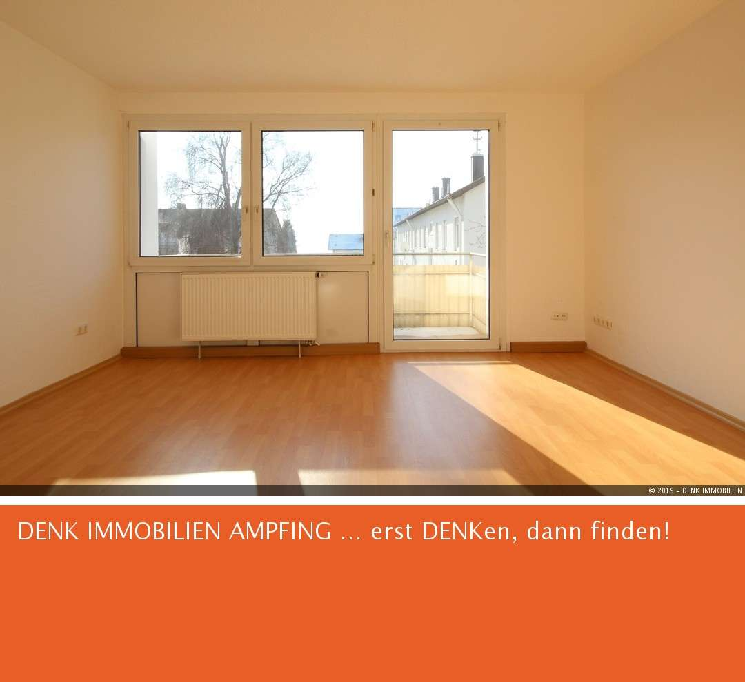 Sonnige 3-Zimmer-Wohnung mit Südbalkon  in Ampfing
