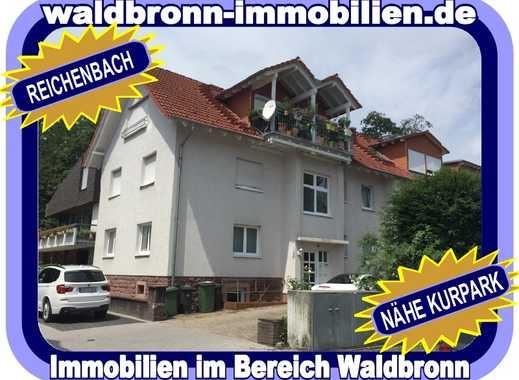 WOHNEN IN WALDBRONN = TOP GEPFLEGTES MAISONETTE WOHNREFUGIUM MIT BALKON UND GARAGE - NÄHE KURPARK...