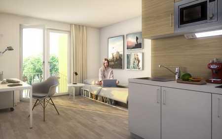 Studentenwohnung, Günstige 1-Zimmer-Balkonwohnung, Erstbezug, Provisionsfrei in Freimann (München)
