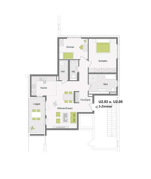 3-Zimmerwohnung mit 96 m²