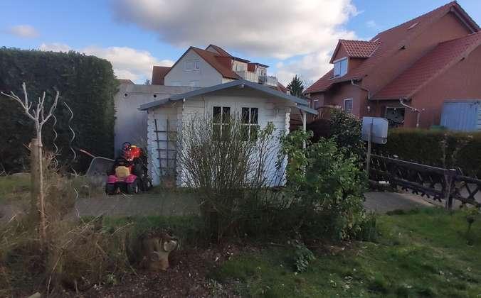 Garten und Gartenhäuschen