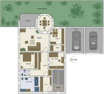 4-Zimmer-Wohnung mit Terrasse Garten Garagen