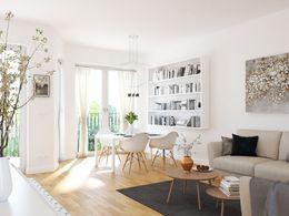 Wohnzimmer, Beispiel WE Typ 22