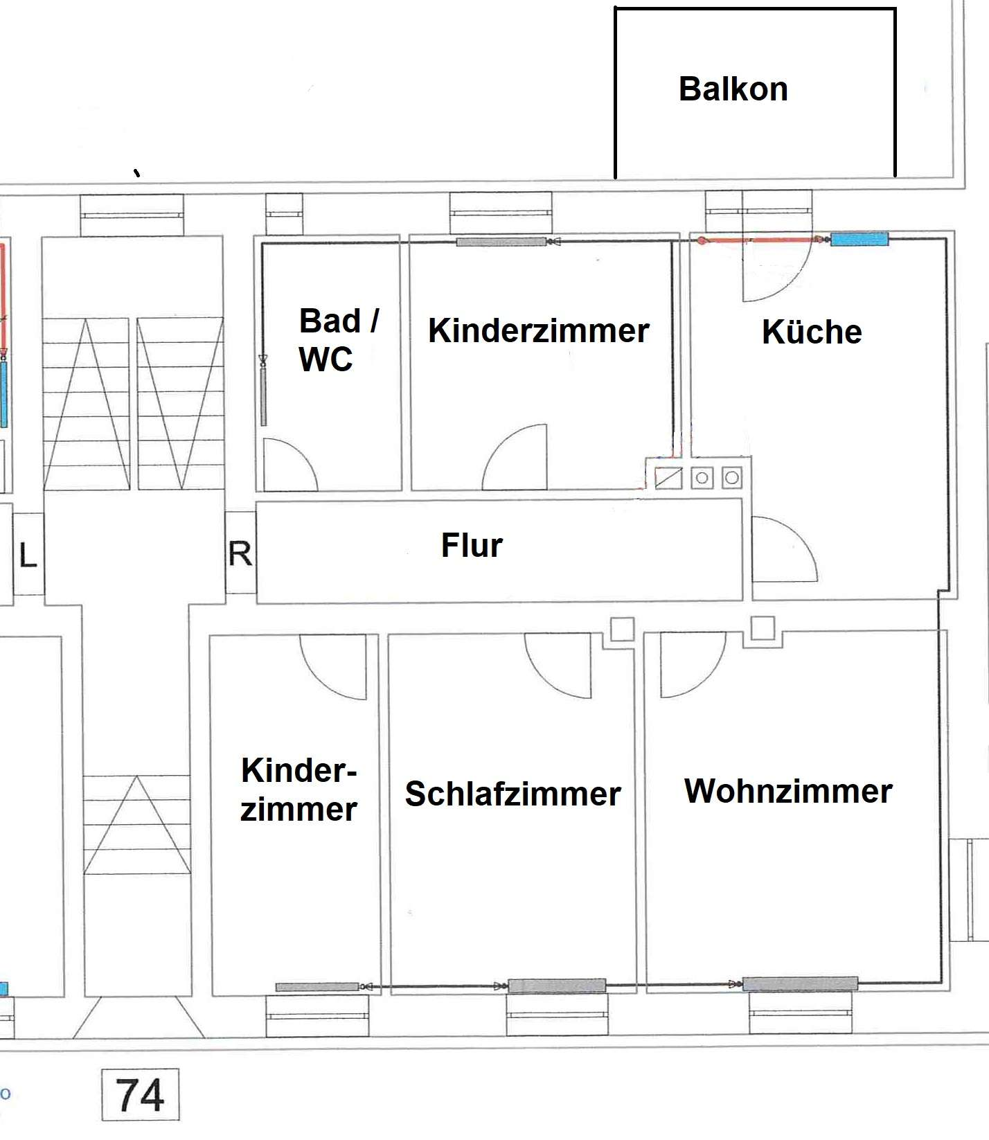 Gut und sicher wohnen - 3,5-Zimmer-Wohnung mit Balkon in