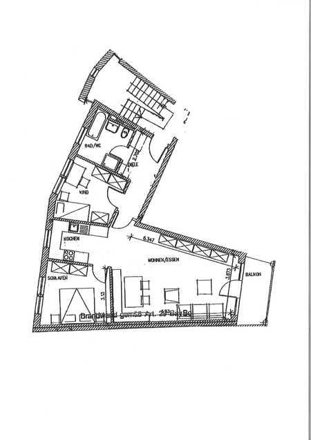 3 ZKB, Balkon und Tiefgarage in Fischach