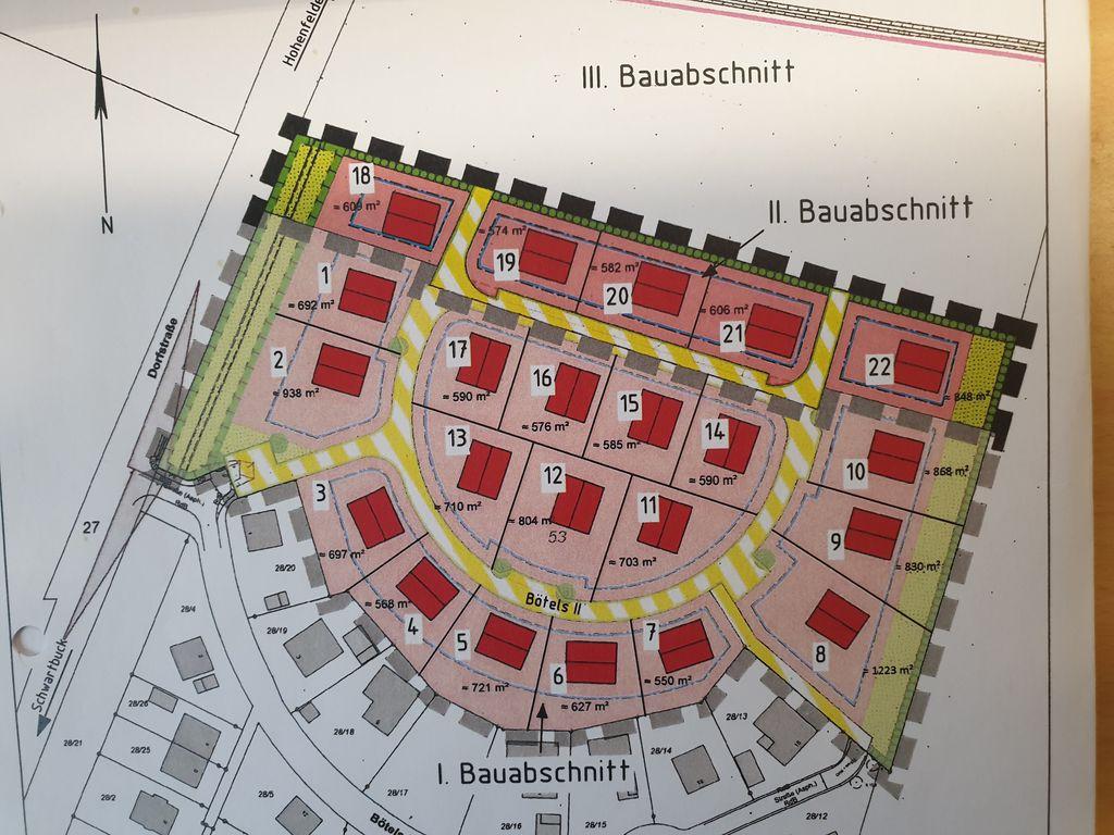 Grundstücksplan B-Plan 4