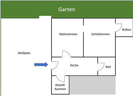 Helle 1 1/2 Zimmer Wohnung in Burgbrohl, Ahrweiler (Kreis)