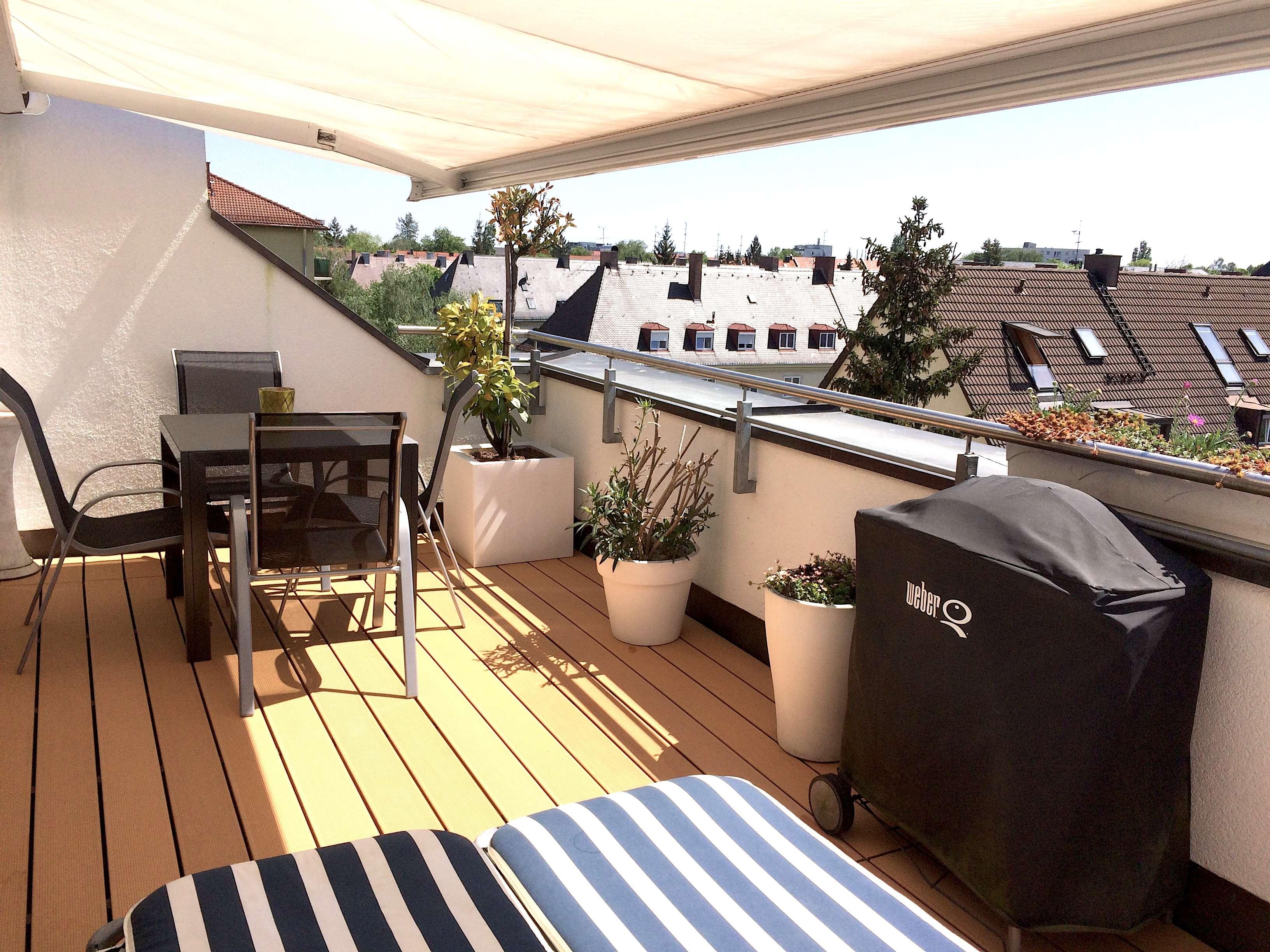 Traumhafte Dachgeschosswohnung mit Alpenpanorama voll möbliert in Obergiesing (München)