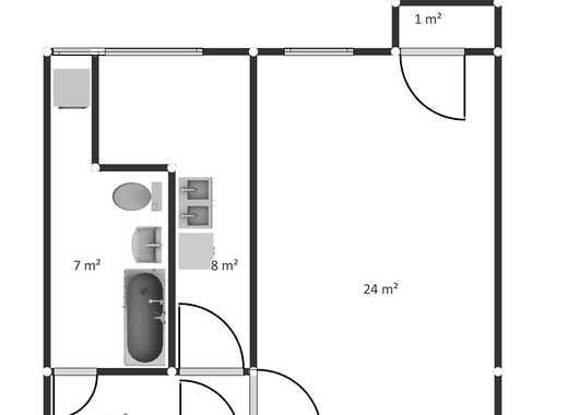 sehr ruhige 1-Raumwohnung nahe Mauerpark