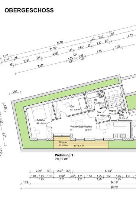 Neuwertige 4-Raum-Penthouse-Wohnung mit Balkon und Einbauküche in München-Trudering in Trudering (München)