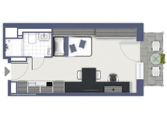 Single-Suite-mit-Balkon
