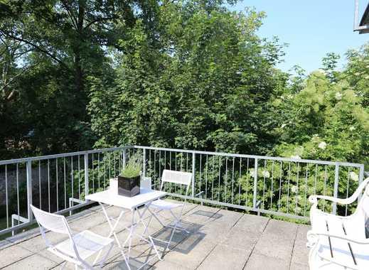 Schöne, komplett möblierte Wohnung mit Sonnenterrasse - im schönen Pempelfort