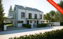 Rohbau fertiggestellt Moderne Doppelhaushälfte in