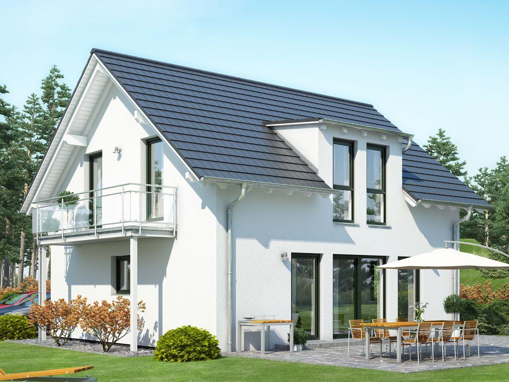 celebration 125 v4 modernes satteldachhaus mit. Black Bedroom Furniture Sets. Home Design Ideas
