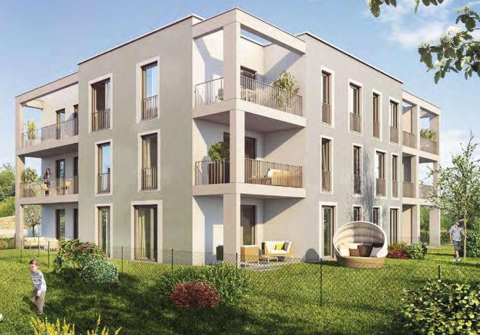 Erstbezug: Exklusive 2-Zimmer-Wohnung mit EBK und süd-west Loggia in Vaterstetten in