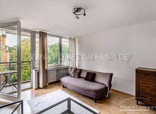 Großzügiges möbliertes 1-Zimmer-Appartment mit Balkon in München-Schwabing