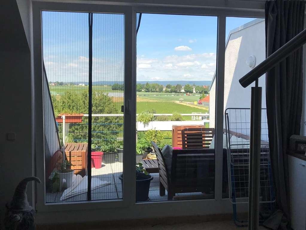 Balkon Blick Wohnzimmer