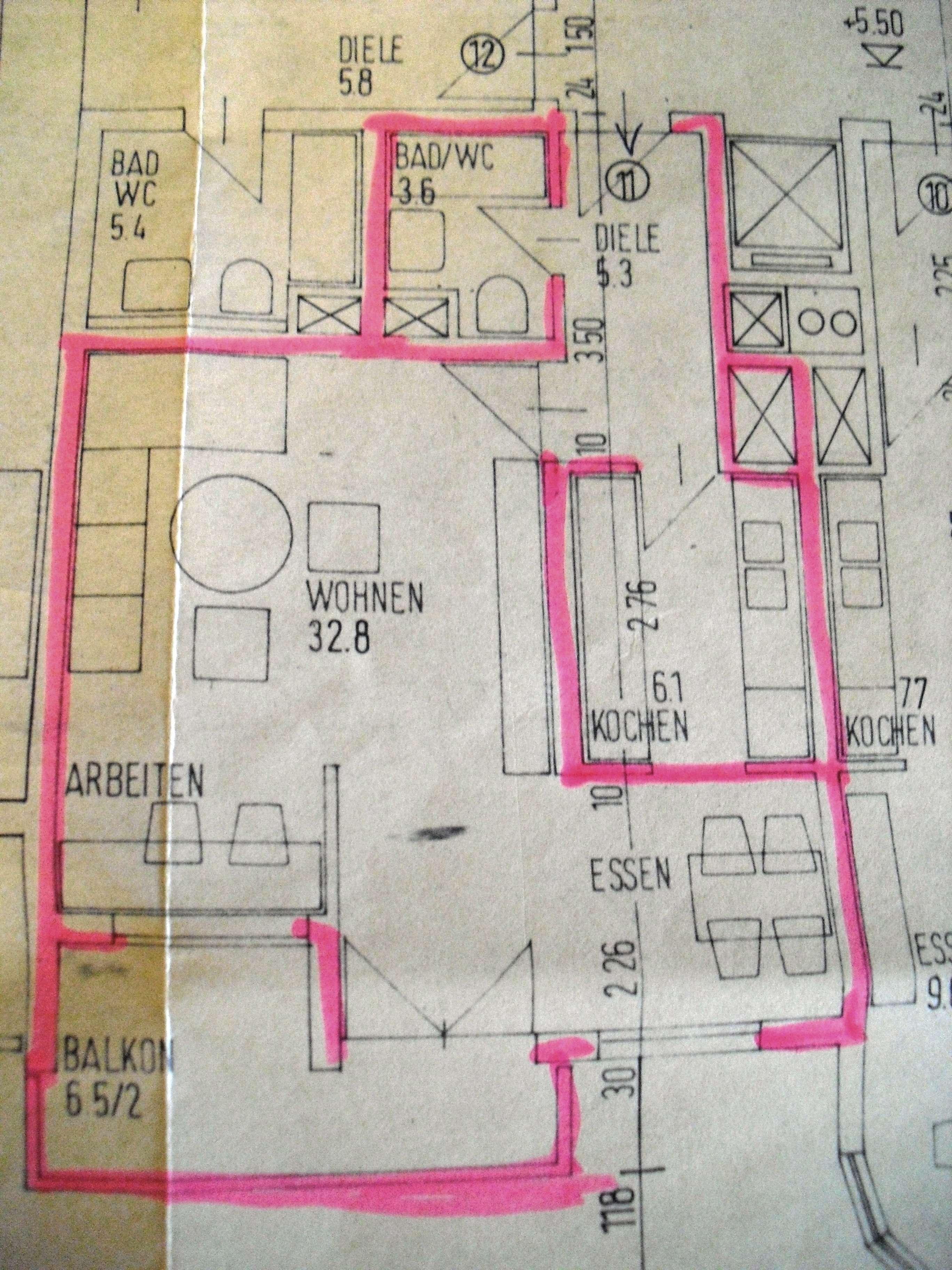Erstbezug nach Sanierung mit Einbauküche und Balkon: exklusive 1,5-Zimmer-Wohnung in Germering