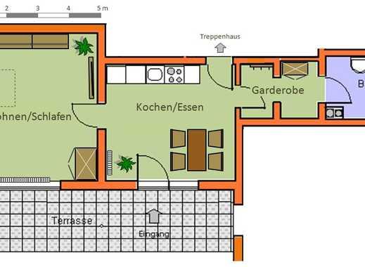 Schöne 1-Zimmerwohnung mit Terrasse