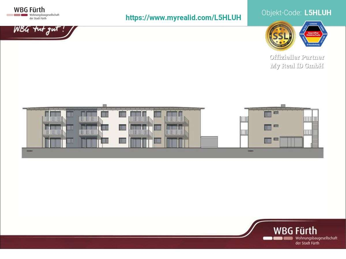 Moderne 3-Zimmer Neubauwohnung mit Balkon im Süden von Fürth - gefördert nach EOF II in Südstadt (Fürth)