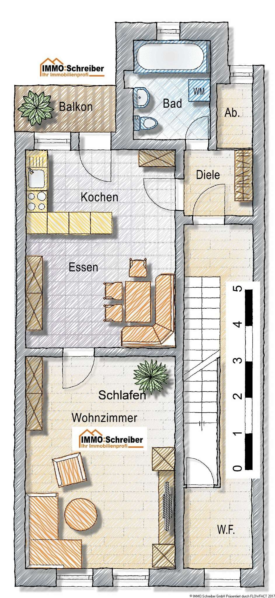 möbilierte 2-Zi-Wohnung in Bayerisch Eisenstein