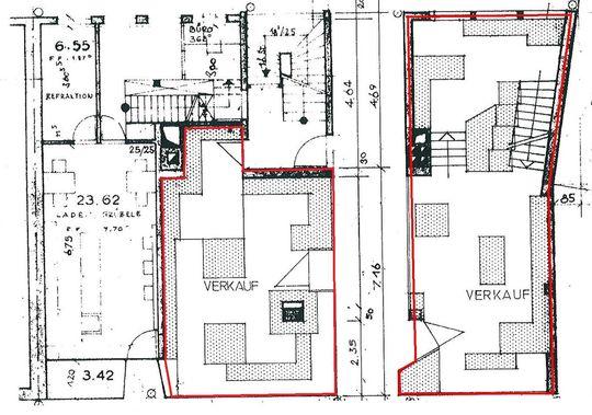 Erdgeschoss, beide Ladenlokale