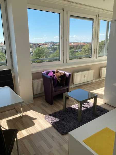 *Fürth City: möbliertes modernes 1-Zimmer Apartment* - in Top Lage in Stadtpark / Stadtgrenze (Fürth)
