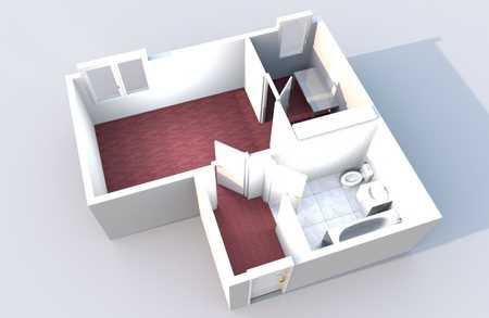 Gut aufgeteilte 1-Zimmer Etagenwohnung in ruhiger und zentraler Lage - Bamberg - Gönnerstraße in Mitte (Bamberg)