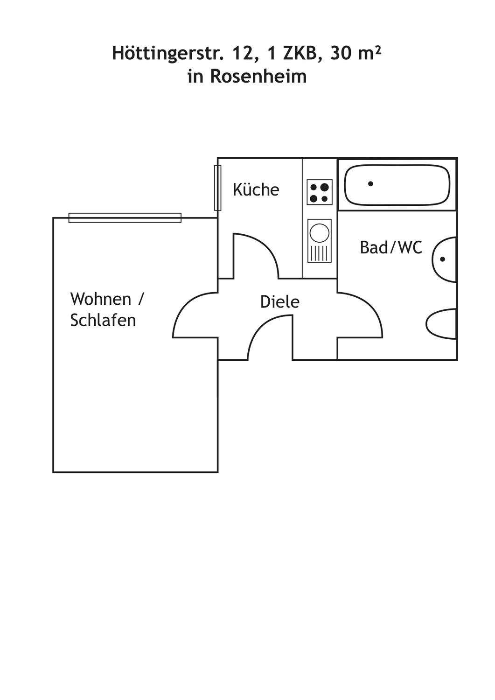 Nähe Krankenhaus/FH/Loretowiese provisionsfrei Genau Lesen! in Rosenheim-Ost (Rosenheim)