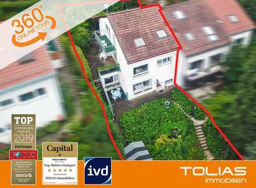 Bopserwald im Rücken! Reizendes REH mit ELW + Garage + Garten + Terrassen + am Bopser