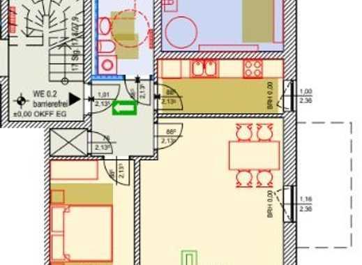 moderne 2 Raumwohnung ca 60m² Wfl. mit Terrasse, ab 01.08.2019