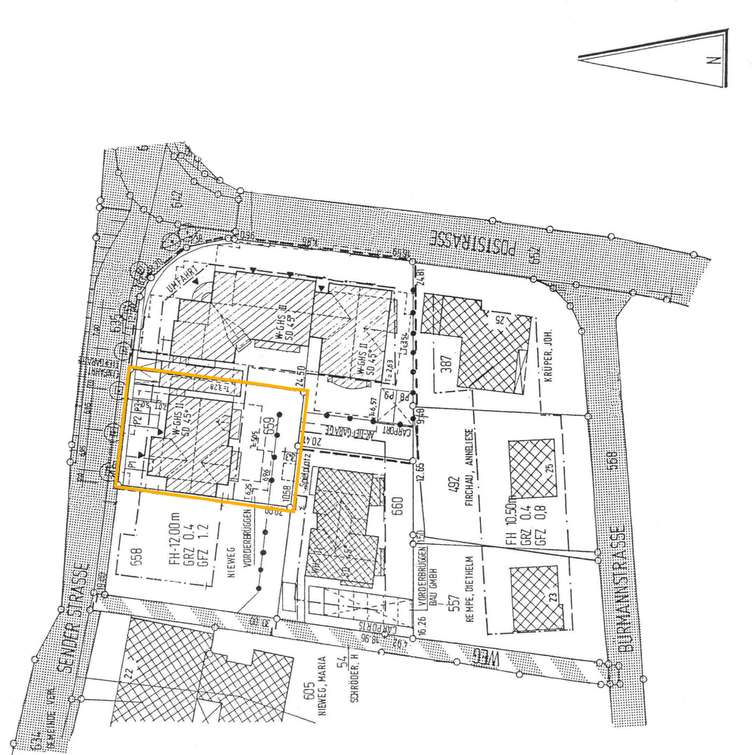 Lageplan Sender Str. 28
