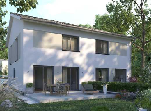 Grundstück vorhanden! Für schicke kleine Doppelhaushälfte.