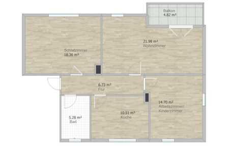 Erstbezug nach Sanierung mit Balkon: zentrale 3-Zimmer-Wohnung in Karlstadt in Karlstadt (Main-Spessart)