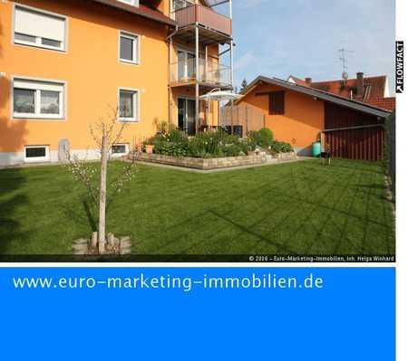 Großzügige 4ZKB Erdgeschoßwohnung mit Garten, Garage u. Stellplatz in Neuburg-Bruck in Neuburg an der Donau