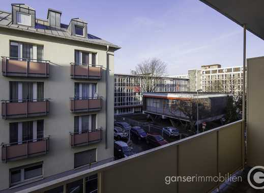 kürzlich saniert: 2 Zi., Balkon, Mainblick, ruhige Lage nahe ECB, EBK, Aufzug