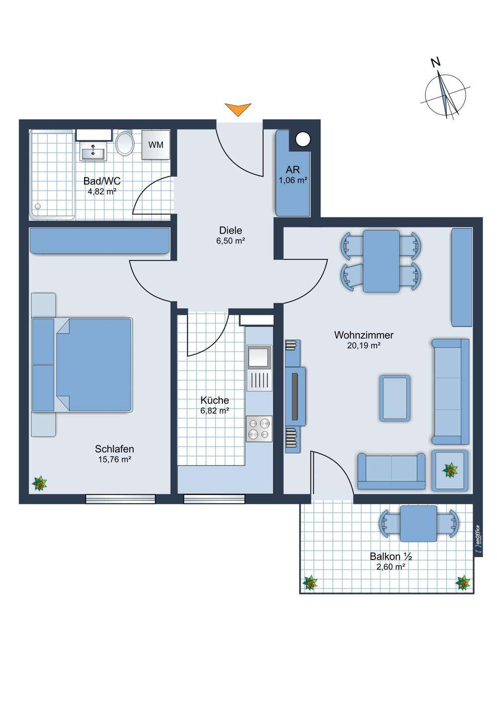 Erstbezug nach Komplettsanierung - 2-Zimmer-Wohnung mit Balkon + TG-Stellplatz in Coburg! in Coburg-Zentrum (Coburg)