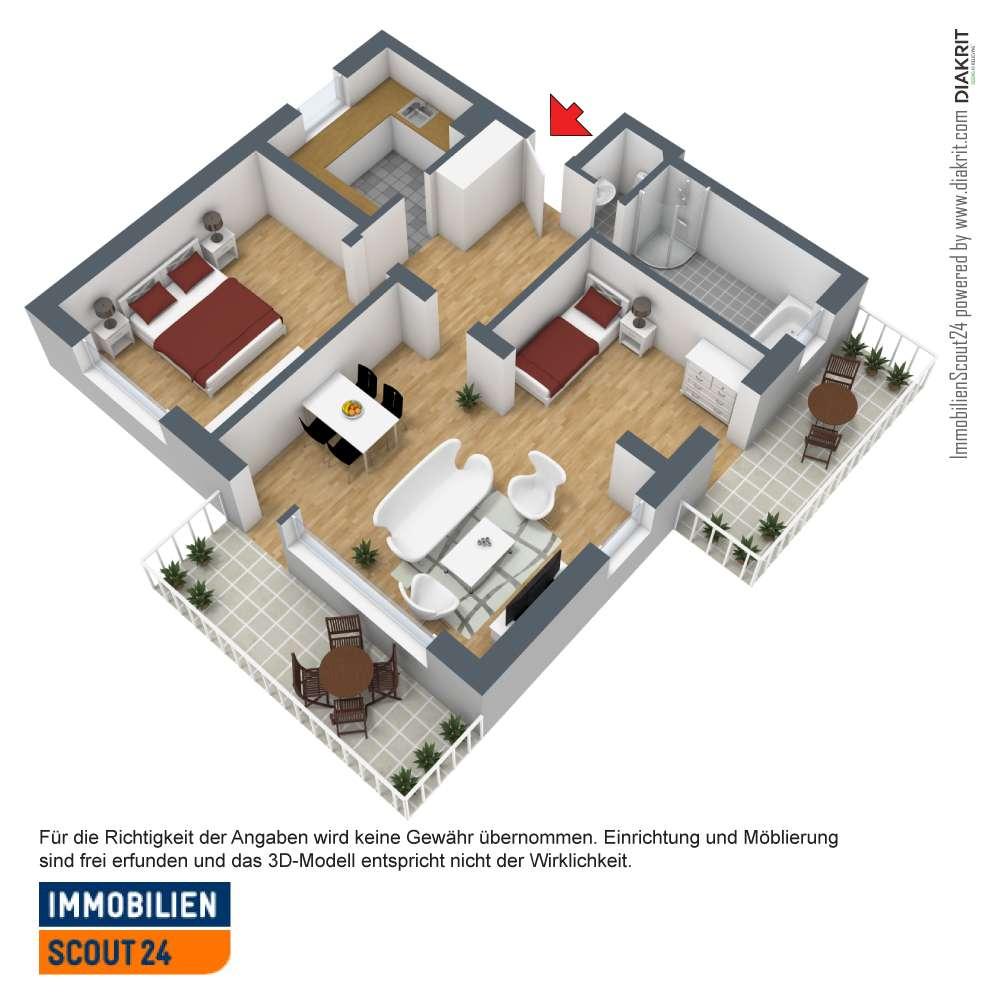 Für Sonnenanbeter 2,5 Zimmer, 2 Balkone (S/W), separater Hobbyraum
