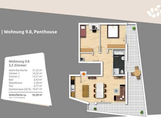 3,5-Zi.-Penthousewohnung zum kleinen Preis und mit großer Dachterrasse