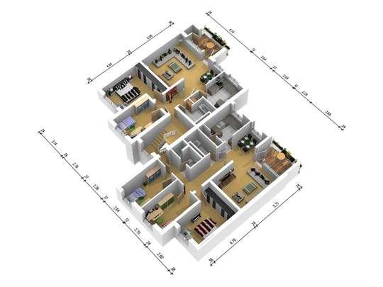 Wohnungsgrundriss rechts<