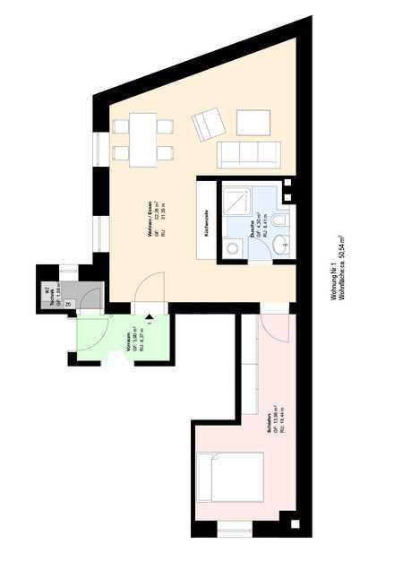 *möblierte*2-Zimmer-Wohnung nähe Ostbahnhof*EBK*Bad mit großer Dusche*Parkett* in Haidhausen (München)