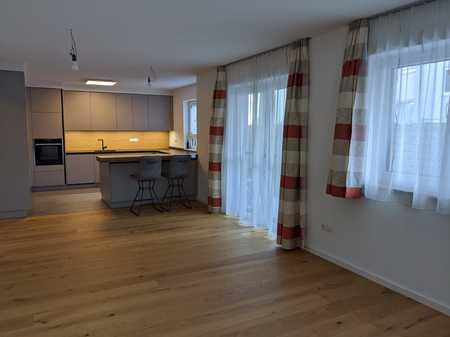 Erstbezug mit Einbauküche und Balkon: stilvolle 3-Zimmer-EG-Wohnung in Landshut in Nikola